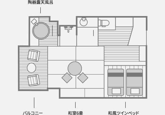 C type 間取り図